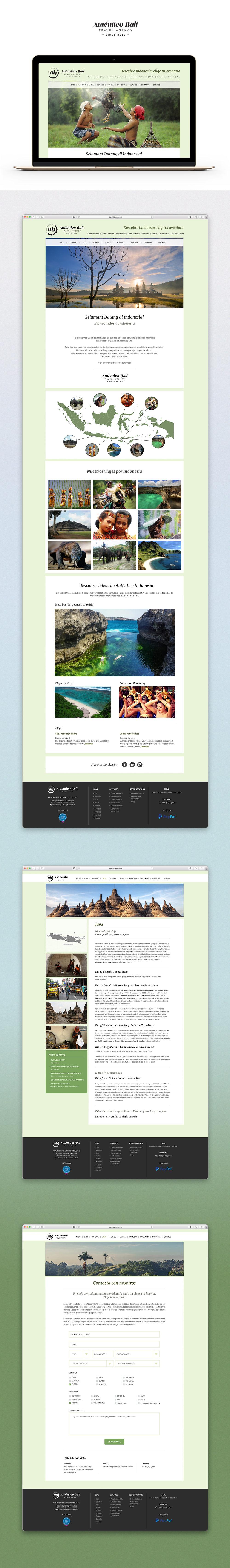 Auténtico Bali Web Design